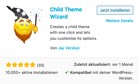Wordpress Child-Theme