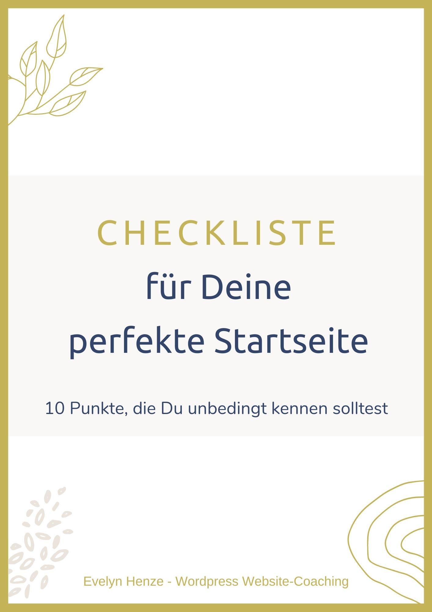 Tipps Perfekte Startseite